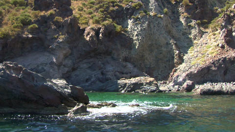 eolian island coast 04 Stock Video Footage