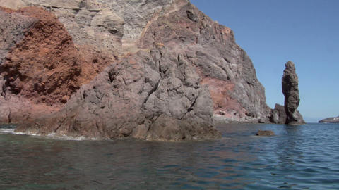 eolian island coast 06 Stock Video Footage