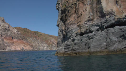 eolian island coast 08 Stock Video Footage