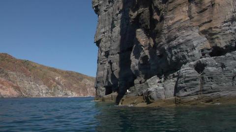 eolian island coast 08 Stock Video Footage