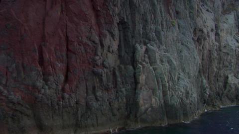 eolian island coast 11 Stock Video Footage