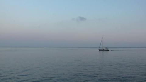 eolian island sea 04 Stock Video Footage