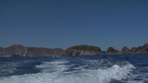 eolian island sea wake 02 Stock Video Footage