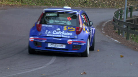 rally slow 12 Stock Video Footage
