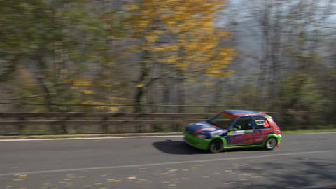 rally track 02 Stock Video Footage