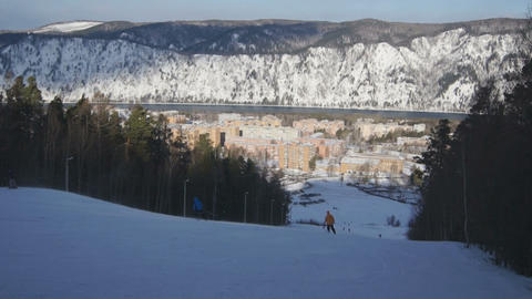 Ski Resort Divnogorsk 02 Footage