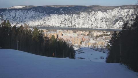 Ski Resort Divnogorsk 02 Stock Video Footage