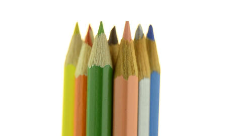 Top of color pencils Stock Video Footage