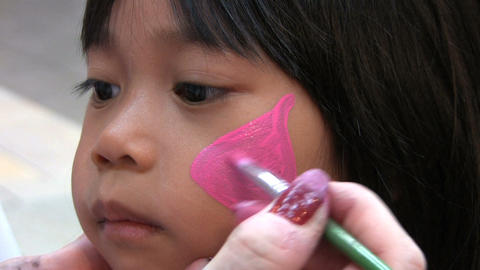 Face Painting Sequence Stock Video Footage