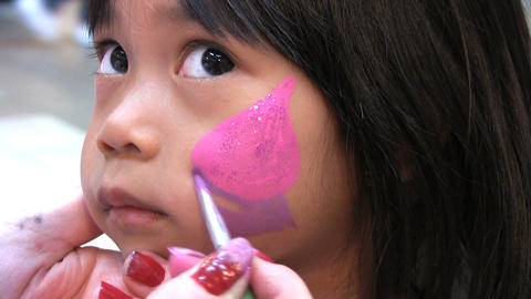 Face Painting Sequence Footage