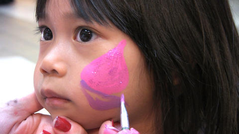 Face Painting Fun Stock Video Footage