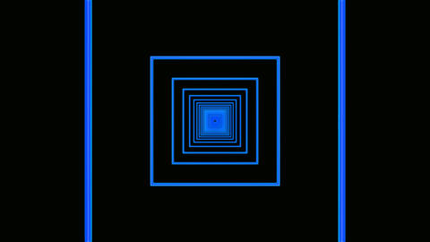 blue square tunnel Stock Video Footage