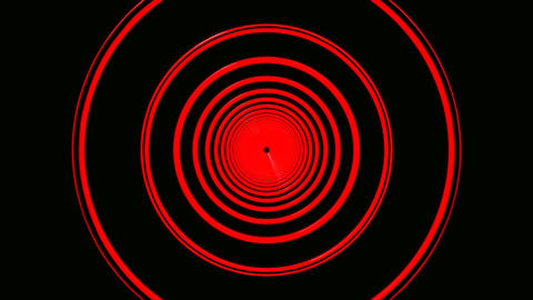 red ring tunnel Animation