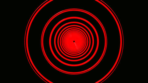 red ring tunnel Stock Video Footage