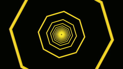 yellow octagon tunnel Animation