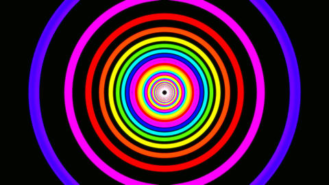 ring rainbow tunnel Animation