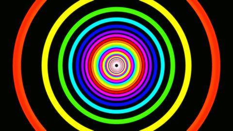 ring rainbow tunnel Stock Video Footage