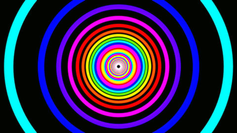 ring rainbow tunnel Stock Video Footage