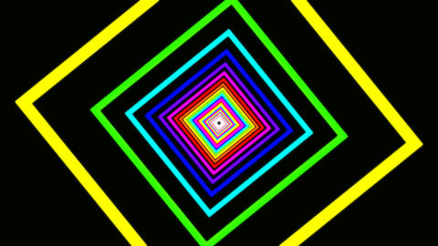 square rainbow tunnel Animation