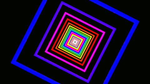 square rainbow tunnel Stock Video Footage