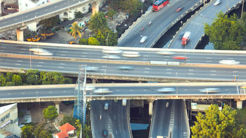Timelapse - Highway from above Footage