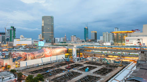 Timelapse Bangkok City Skyline Stock Video Footage