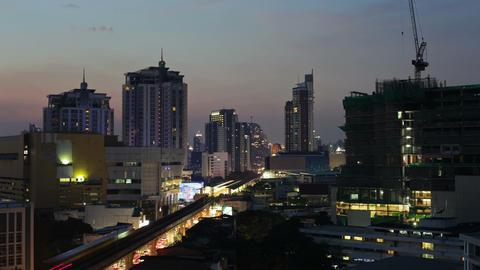 Time Lapse - Bangkok city at Sunset Stock Video Footage