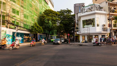 4K Timelapse of Traffic in Ho Chi Minh City Stock Video Footage