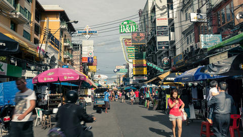 Bangkok Khaosan Road Stock Video Footage