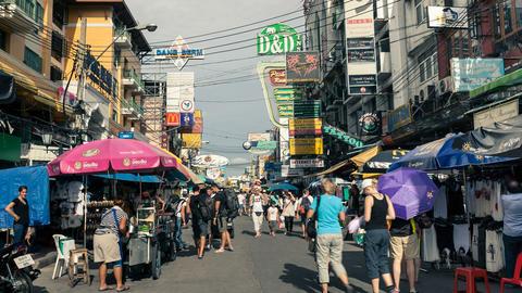 Bangkok Khaosan Road Footage