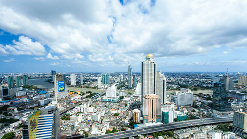 Timelapse Bangkok City Skyline Footage