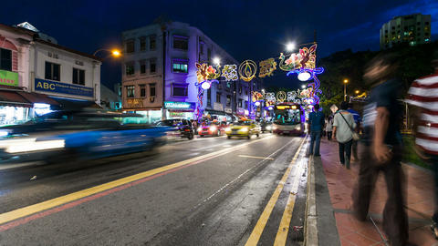 Little India Timelapse, Singapore Footage