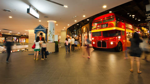 Bangkok Shopping mall Timelapse Terminal 21 Stock Video Footage