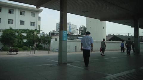 Train enter train station platform.Speeding train... Stock Video Footage