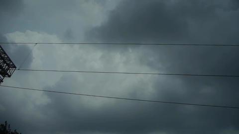 Altocumulus cloud in blue sky in rural... Stock Video Footage