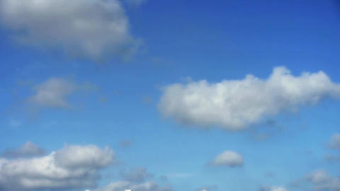 The movement of altocumulus clouds Stock Video Footage