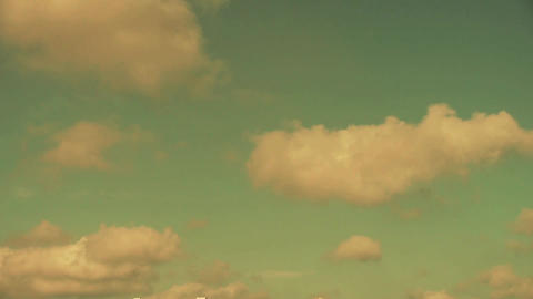 Panoramic of sunset altocumulus clouds in sky Stock Video Footage