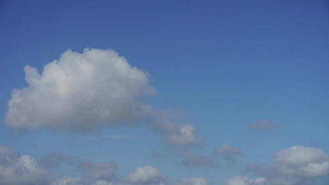 The movement of altocumulus clouds in blue sky Stock Video Footage