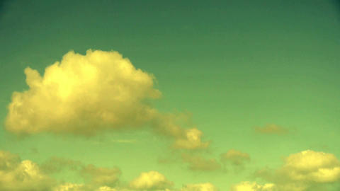 Panoramic of sunset altocumulus clouds Stock Video Footage