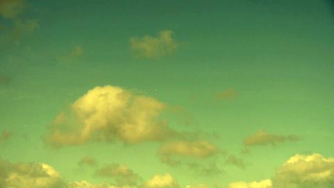 Panoramic of sunset altocumulus clouds Footage