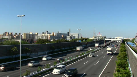 Bayshore route of shuto expressway Live Action