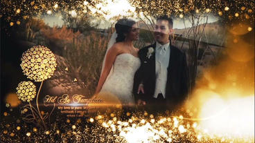 Flower Wedding Titles After Effects Template