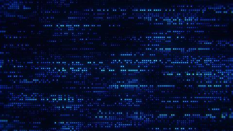Flowing Matrix Digital Blue Dots Loop Motion Background Animation