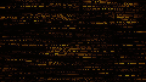 Flowing Matrix Digital Gold Dots Loop Motion Background Animation