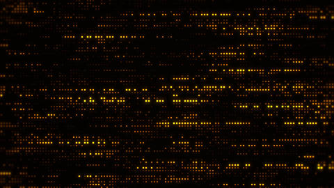 Flowing Matrix Digital Gold Dots Loop Motion Background, Stock Animation