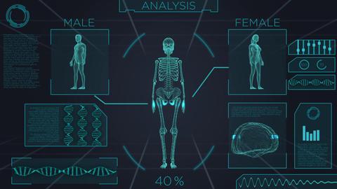 Futuristic medical screen scan GIF