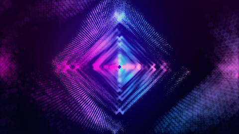 VJ Romb Particles purple blue Animation
