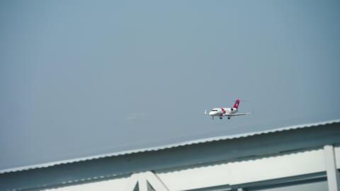 Bombardier Challenger 650 landing Footage