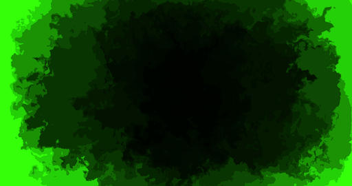 abstract paint brush stroke shape black ink splattering flowing and washing on chroma key green Live Action