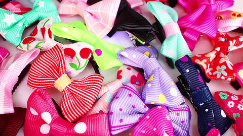 Children baby girl girly party symbol hair bow bows Live Action